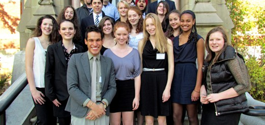 The HHS Model UN delegation after the conference at Brown University. Photo courtesy of Dmitry Steesy