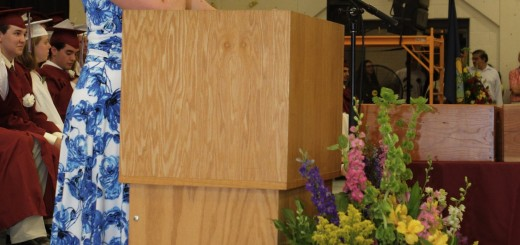 Mrs. Gillespie speaks at Graduation 2011. Photo courtesy of Commencement Photos, Inc.