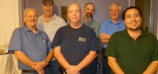 HHS Custodial Staff, 2012-2013. Back Row:Paul Truman, Earl Miller, Gerald Berger; Front Row: Supervisor Bill Buchanan, Bob Ogama, Nader Joseph. Out at time of photo: Mike Shea, Tammie Severance (Morning Shift).