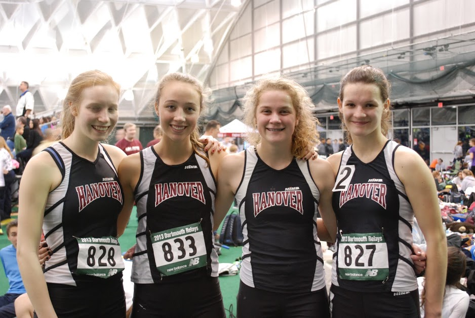 The 4X400m Girls' Relay Team at Dartmouth Relays
