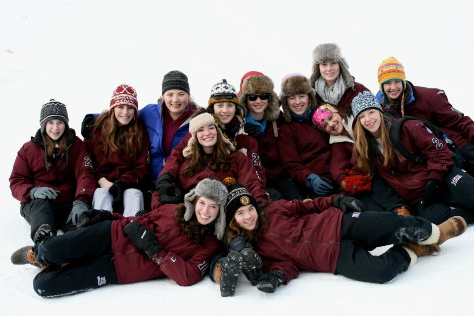 HHS Girls Hockey Team 2013 Photo by Elise Austin-Washburn