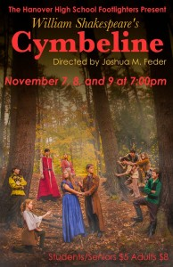 "The Footlighter's ""Cymbeline"" poster. courtesy of Matthew Stebenne"
