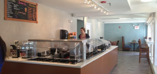 Numerous toppings await customers at the Swirl and Pearl on Lebanon St.  courtesy of dartbeat.com
