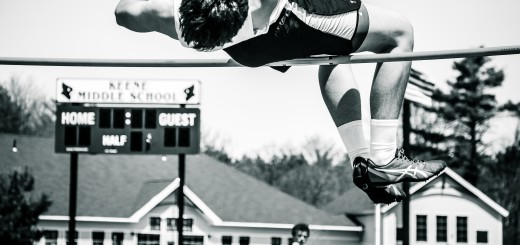 Ben Sobel clearing 5 feet 4 inches at the anual Division II Freshmen Sophmore Track Meet