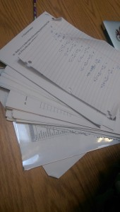 This is a picture of some of the school work that Ivan Somoff has gotten so far this year