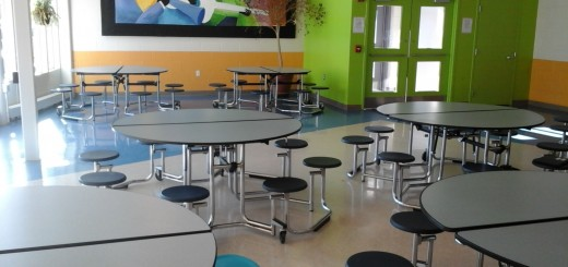A lonely cafe, devoid of Freshmen.