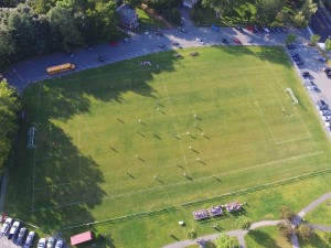 The JV girls soccer team takes on Windham in Hanover on August 29. The game ended in a 1-1 tie. (Credit: Hayden Smith)