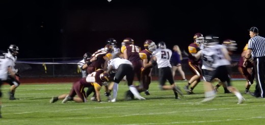 """The varsity football team battles Lebanon on Friday, September 22nd"", during last year's homecoming. ""The Marauders won 41-6 against their rivals and earned the Principals' Cup""."