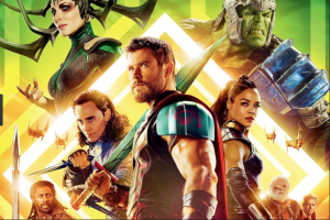 "Chris Hemsworth stars in the third movie of Marvel Studios' ""Thor"" franchise.  (http://junkee.com/thor-ragnarok-review-joy/132832)"