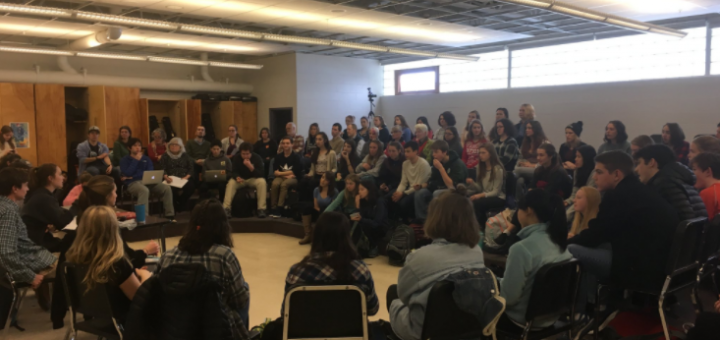 Many concerned students who were not on Council took to the chorus room during Wednesday's Council meeting.