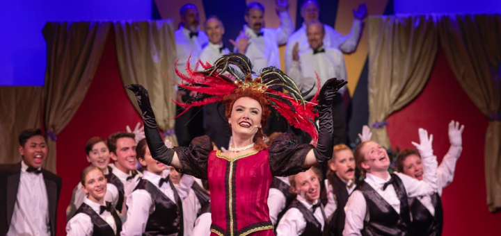 """Iva Wich stars as Dolly in the Footlighters' presentation of the musical """"Hello, Dolly!"""" Photograph by Mark Washburn."""