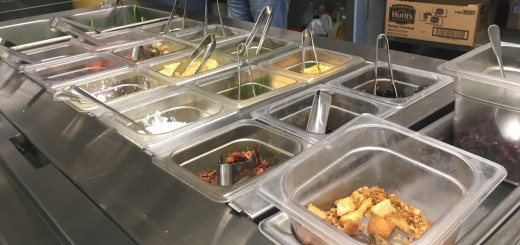 The Student Life Committee helped install a salad bar inside the HHS cafeteria.