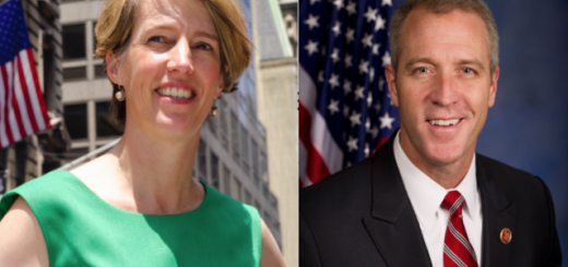 Professor Zephyr Teachout (left), a 1989 graduate of Hanover High, and U.S. House Rep. Sean Patrick Maloney (right), a 1984 graduate of Hanover High, are both running to be Attorney General of New York. Picture source: Wikipedia.