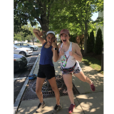 Charlotte Tagupa (left) and Sonja Peterson (right) out on a run in preparation for the upcoming 5k for Forest.